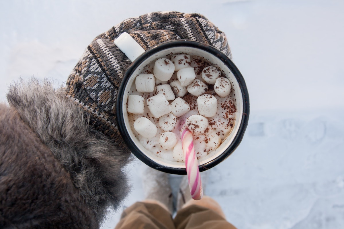 cup of hot chocolate and marshmallows