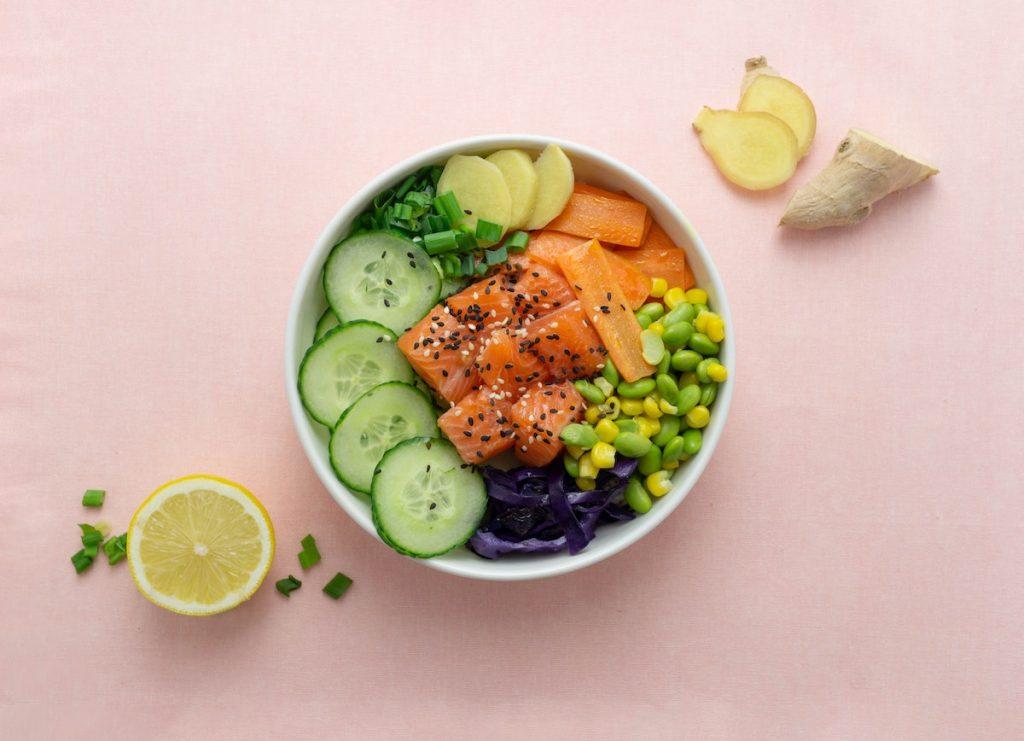 healthy salmon plate