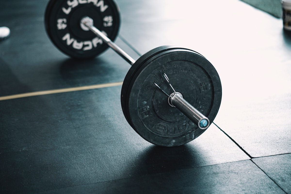 barbell with weight plates